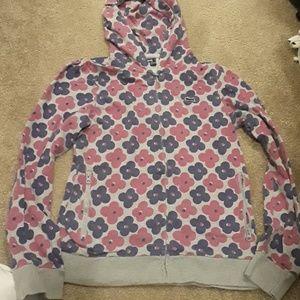 (2 /$20)EUC Le Tigre flowered hoodie size Medium